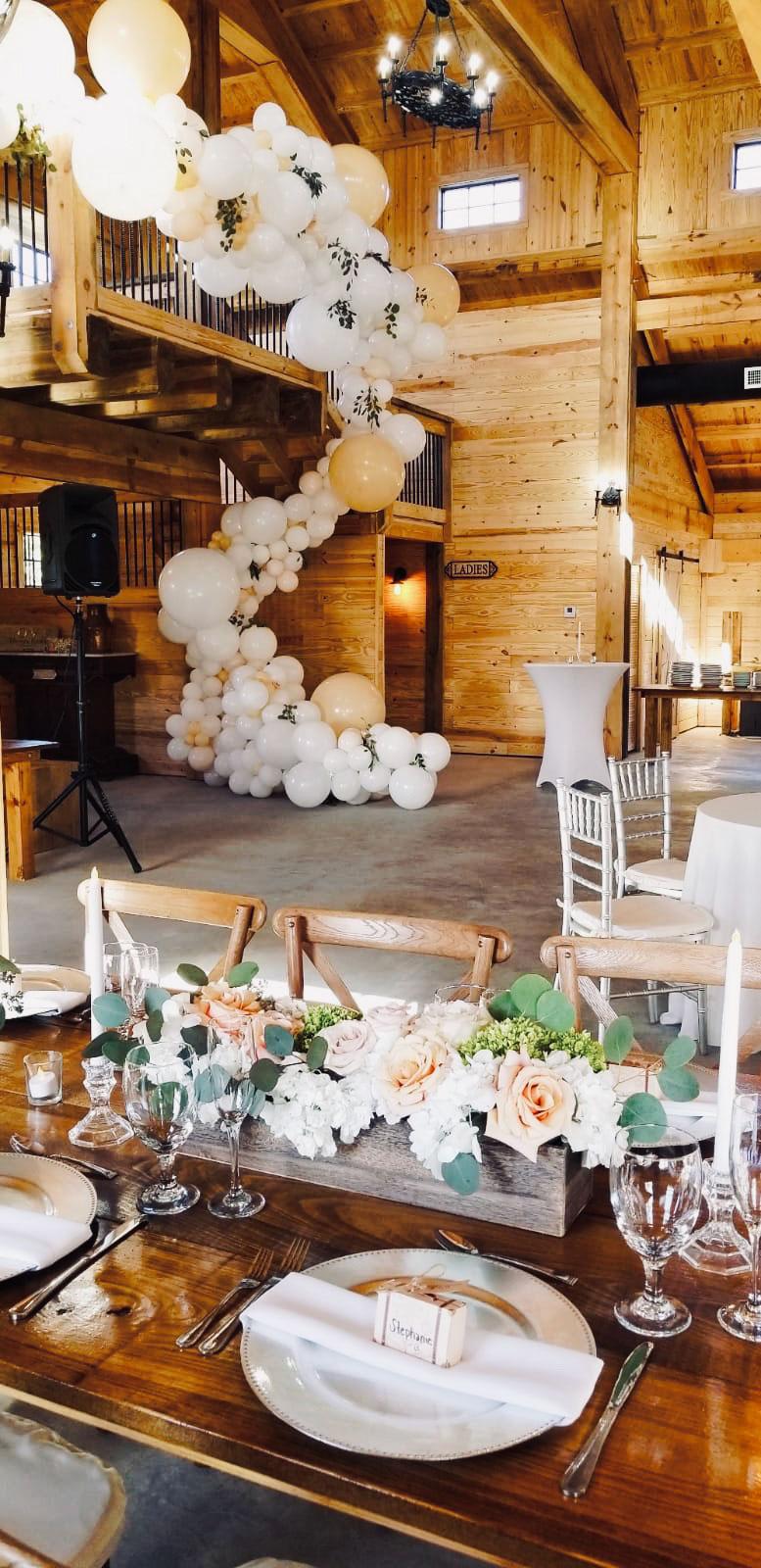 Barn Weddings and Table set up decor