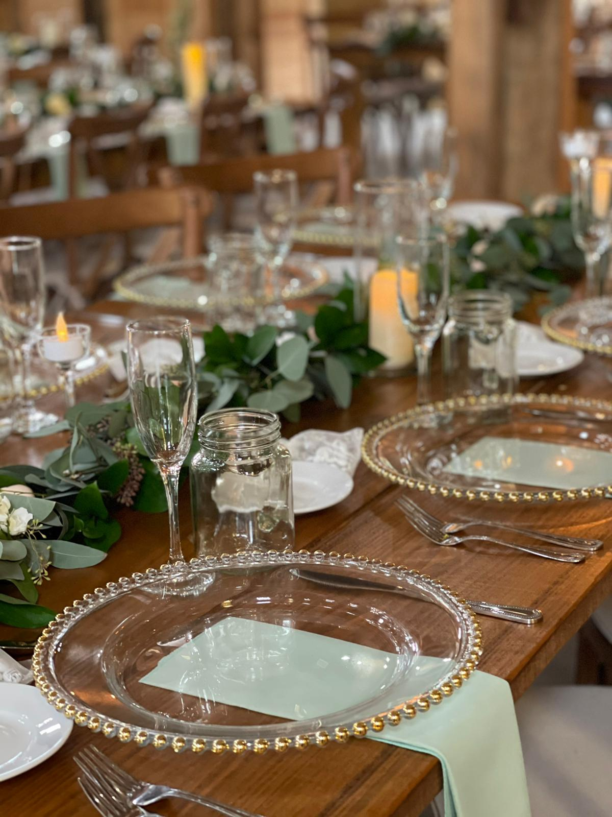 wedding table set up homestead florida